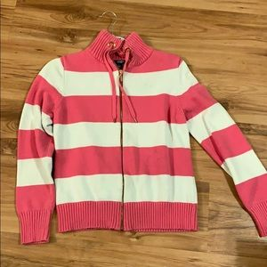 Stripped Zip Up sweater